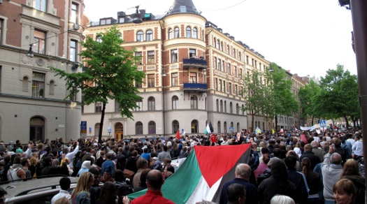Demonstration för Gaza