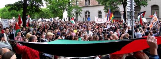 Demonstration för Gaza