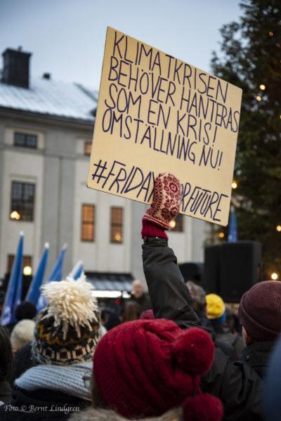 Manifestation mot katastrofbudget på Medborgarplatsen